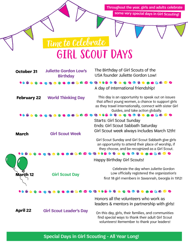 It's just a graphic of Universal Girl Scout Week Activity Sheets